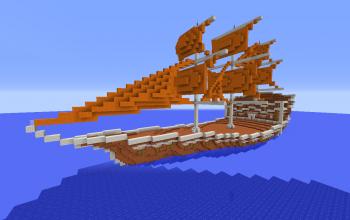 Orange Fantasy Ship