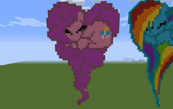 Pinkie Pie Heart Pixel Art