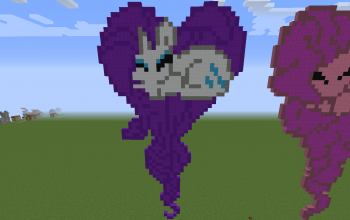 Rarity Heart Pixel Art