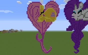Fluttershy Heart Pixel Art
