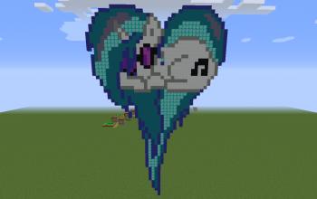 DJ Pon-3 Heart Pixel Art