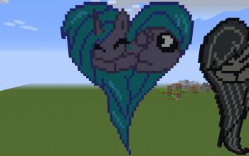 Princess Luna Heart Pixel Art