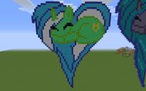 Lyra Heartstrings Heart Pixel Art