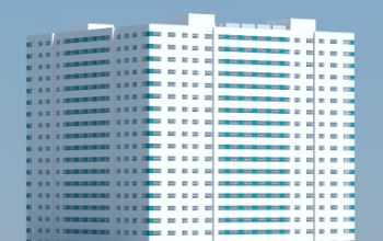18-story apartment