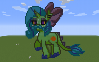 Orange Dragon Pony Pixel Art