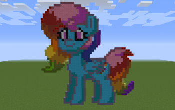 Cotton Candy Pony Pixel Art