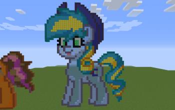 Glowing Apple Pony 2D