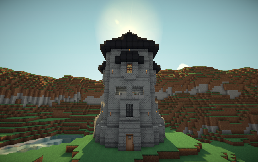 Medieval Stonebrick Watchtower Creation 104