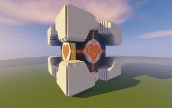 Portal Redstone Companion Cube