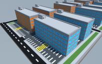 Blue-Orange Apartment