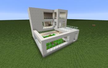 Casa Simples de Quartzo e Plantação