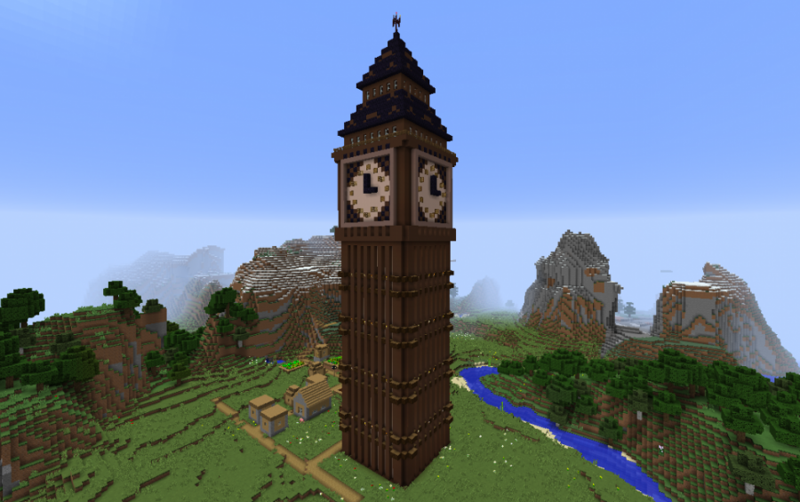 Big Ben Dark version. Minecraft Towers creations