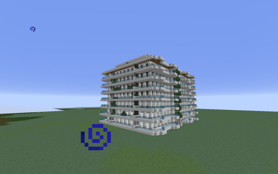 Minecraft modern beach house modern apartment 2 for Minecraft big modern house schematic