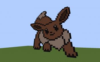 Eevee Pixelmon/Pokemon Pixel Art!! (Pokemon Eevee Pixelart!)