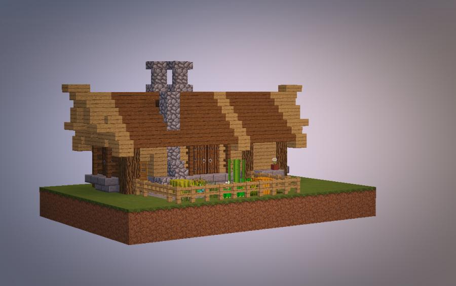 Maison Minecraft Medieval Plan