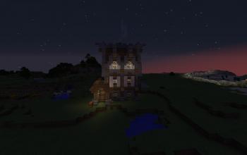 Big medieval house