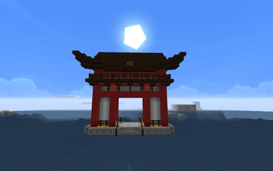 asian gate - Minecraft Japanese Gate