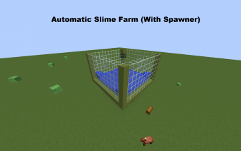 Slime Farm Schematic With Spawner