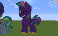 Soaring Shield Pony Pixel Art
