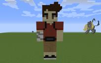 Eddie Kaspbrak Pixel Art Statue