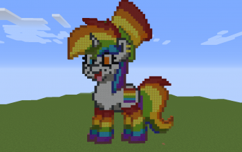 Rainbow Pony Pixel Art