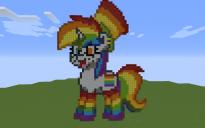 Rainbow Pony Pixel Art
