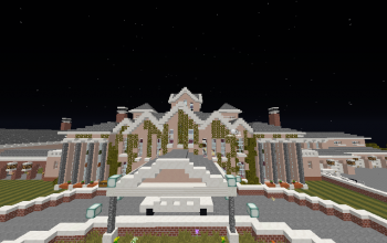 Minecraft Mansion with Interior Design and outside decorations.