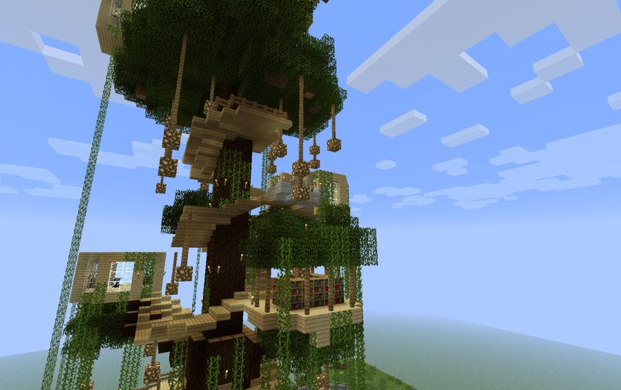 дом на дереве карта для майнкрафт 1.7.10 #9