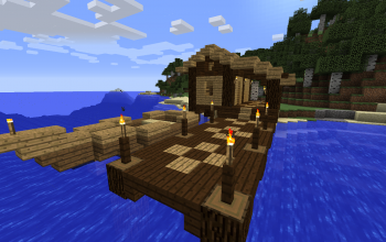 Fisherman's hut with a boat