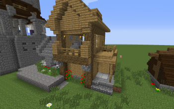house with a workshop