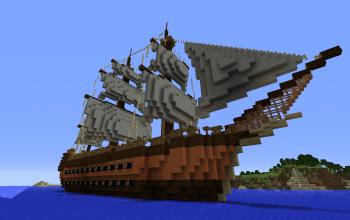 minecraft boats creations rh minecraft schematics com Minecraft Pirate Ship Tutorial minecraft small boat schematic