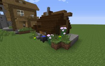 poor village house