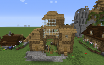 ugly village house