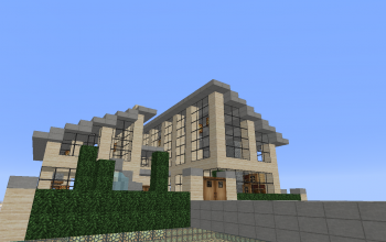 Modern house whit a fireplace
