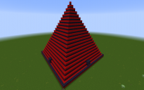 Pyramid in Red and Black