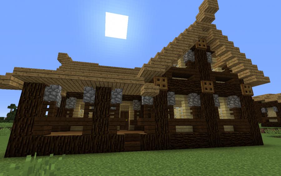 Minecraft schematics the minecraft creations and schematics wooden house malvernweather Gallery