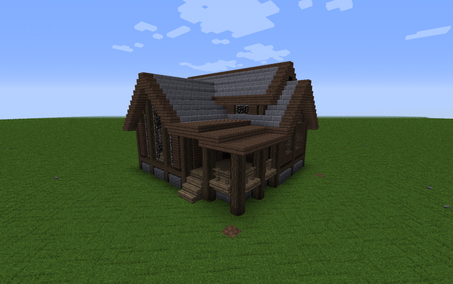 Traditional Spruce House Creation 11621