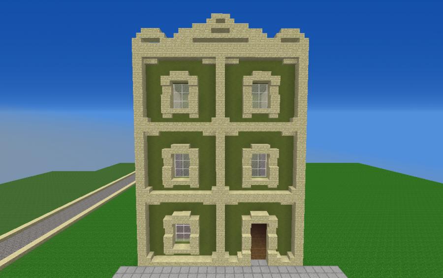 Green Tall House Creation 11826