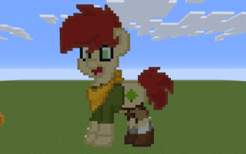 Camp Camp David Pony Pixel Art