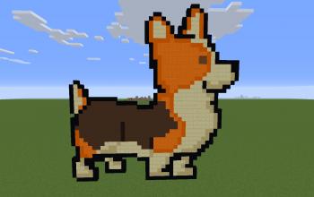 Corgi Pixel Art