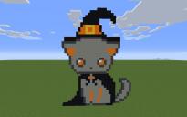 Witch Cat Pixel Art