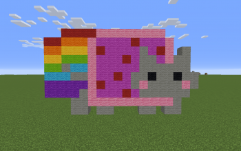 Mini Nyan Cat Pixel Art
