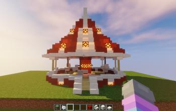 Red & white carousel