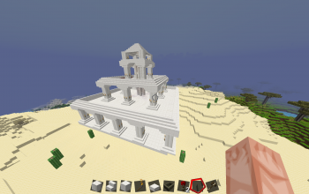 Medium Greek-esque Quartz Temple