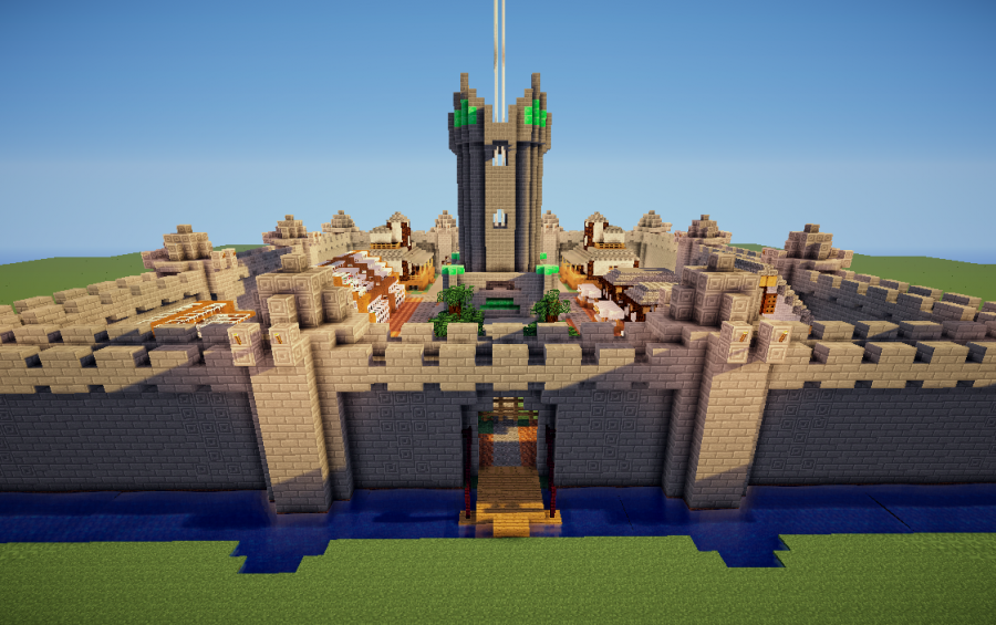 Large Medieval Castle Town Creation 1217