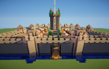 Large Medieval Castle Town