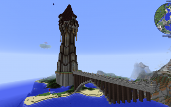 Thaumic Wizard Tower with Bridge