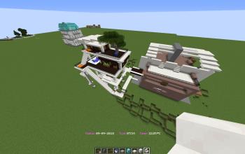 modern house blck-wthe