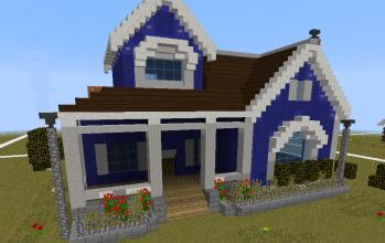 Blue style house