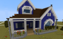 Blue style house